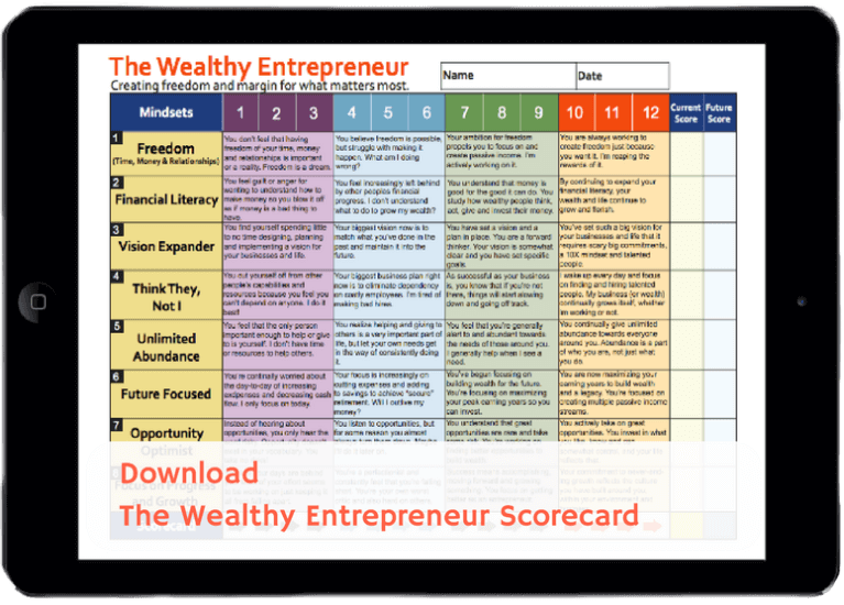 Sign up & we'll send you our Wealthy Entrepreneur Scorecard